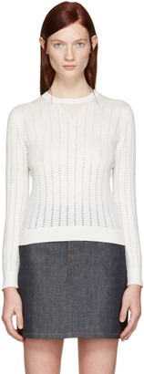 A.P.C. White Annabelle Pullover $235 thestylecure.com