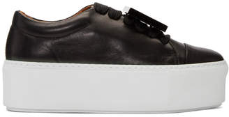 Acne Studios Black and White Drihanna Nappa Sneakers