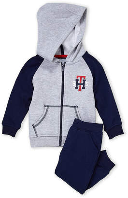 Tommy Hilfiger Infant Boys) Two-Piece Zip-Up Hoodie & Joggers Set