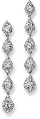Bloomingdale's Diamond Linear Teardrop Earring in 14K White Gold, 1.75 ct. t.w. - 100% Exclusive