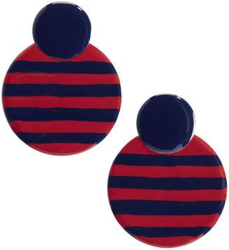 Vineyard Vines Striped Enamel Round Earrings