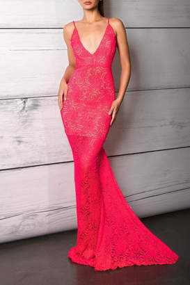 Savee Couture Punch Deep Back Dress