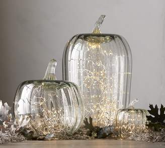 Pottery Barn Recycled Glass Pumpkin Cloche