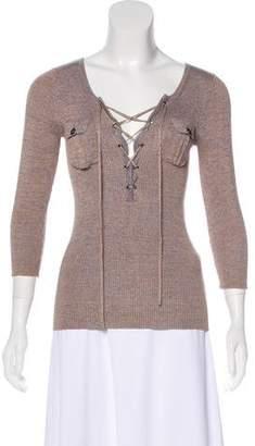 Diane von Furstenberg Reala Rib Knit Top