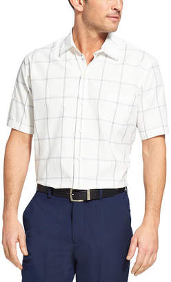 Van Heusen Test Short Sleeve Grid Button-Front Shirt
