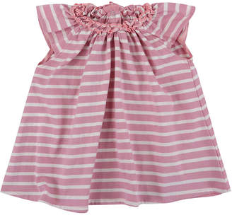 Lilly And Sid Pretty Gathered Stripe Dress