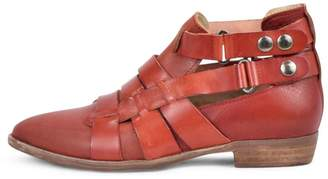 Free People Red Leather Bootie
