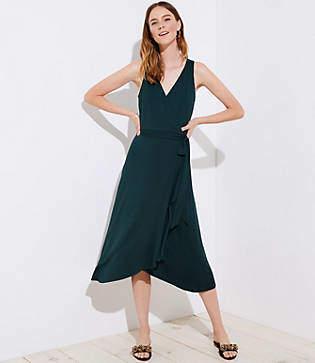 LOFT Wrap Midi Dress