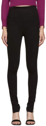 Helmut Lang Black Reflex Zip Leggings