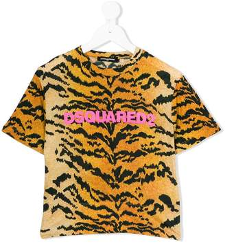 DSQUARED2 tiger pattern print T-shirt