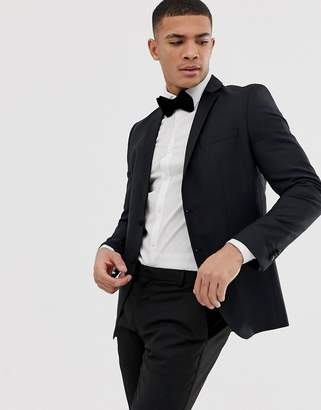 Selected Skinny Suit Jacket In Stretch In Black
