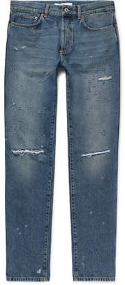 Givenchy Rico Slim-Fit Distressed Denim Jeans
