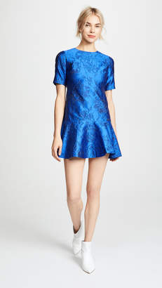 Alice + Olivia Esther Ruffle Hem Tunic Dress