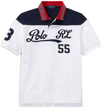 Polo Ralph Lauren Boys' Embroidered Cotton Mesh Polo - Big Kid