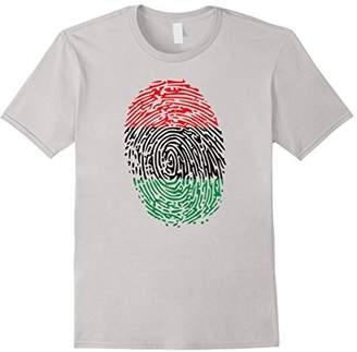 Unique African American Flag Thumbprint T-shirt