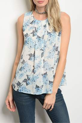 Alythea Ivory Blue Top