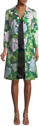 Dolce & Gabbana Women's Silk-Blend Floral Coat