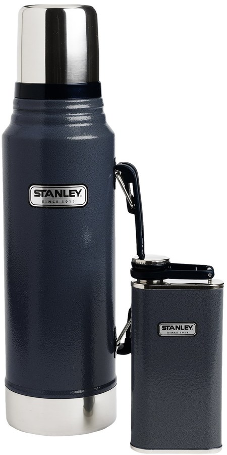 Stanley Classic Vacuum-Insulated Bottle and Flask Gift Set - 1.1 qt. Bottle, 8 fl.oz. Flask