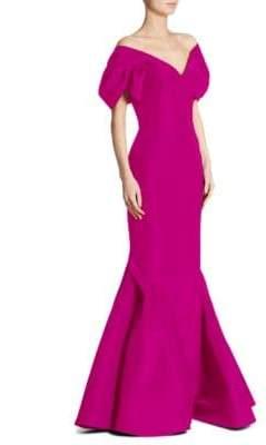 Zac Posen Silk V-Neck Gown