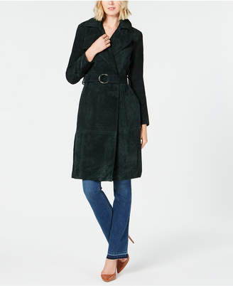 INC International Concepts I.n.c. Suede O-Ring Trench Coat, Created for Macy's