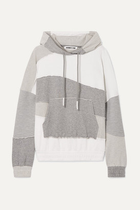 McQ Terry-panelled Cotton-jersey Hoodie - White