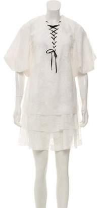 Ungaro Lace Mini Dress w/ Tags White Lace Mini Dress w/ Tags