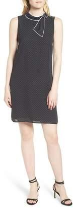 Cynthia Steffe CeCe by Polka Dot Bow Neck Shift Dress