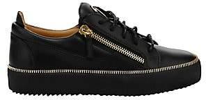 Giuseppe Zanotti Men's Leather Zipper Low-Top Sneakers