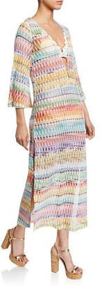 Missoni Mare Knit Zigzag Long Caftan Coverup