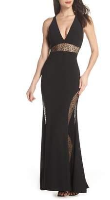 Xscape Evenings Lace Inset Gown