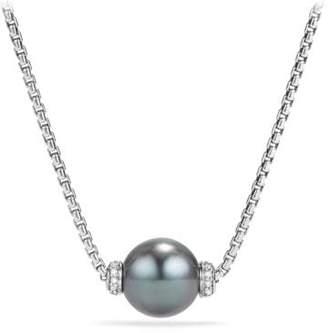 David Yurman Solari Pendant Necklace With Diamonds And Black Onyx