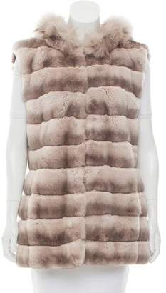 Glamour Puss Glamourpuss Hooded Fur Vest