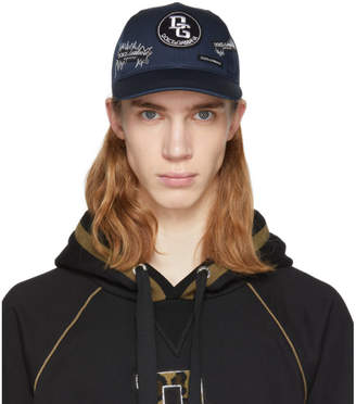 Dolce & Gabbana Blue Logo Patch Cap