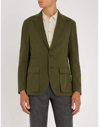 Polo Ralph Lauren Single-breasted cotton blend jacket
