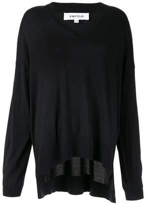 Enfold knitted v-neck jumper