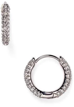 Nadri Swarovski Crystal Hoop Earrings