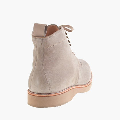 Alden for J.Crew plain-toe boots in suede