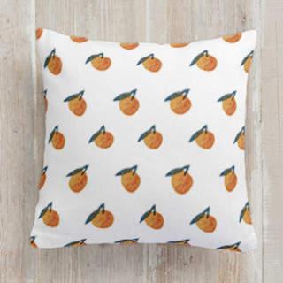 Fruits - sweet orange twins Square Pillow