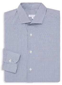Boglioli Classic-Fit Micro Plaid Dress Shirt
