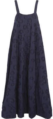 Co - Cotton Fil Coupé Midi Dress - Navy $625 thestylecure.com