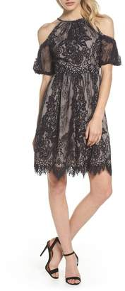 Maggy London Cold Shoulder Lace Dress