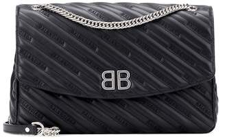 Balenciaga BB Round L leather shoulder bag