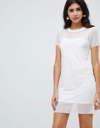 Rare London insert t-shirt dress