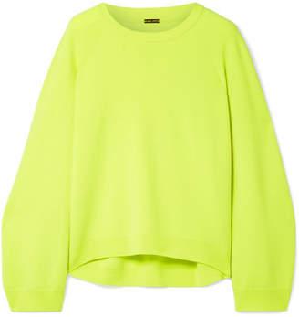 ADAM by Adam Lippes Oversized Merino Wool Sweater - Chartreuse