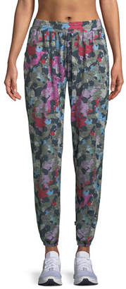 Terez Camo Printed French Terry Jogger Pants