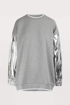 Maison Margiela Metallic sleeve sweatshirt