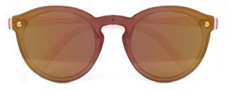 Pop Fashionwear Polarized Rimless One Piece Round Mirrored Sunglasses P4166