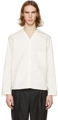 Lemaire SSENSE Exclusive Off-White V-Neck Shirt