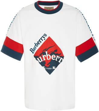 Burberry Logo Cotton Skater Shirt