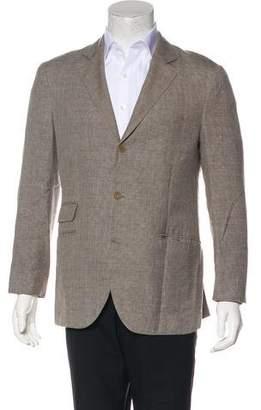 Brunello Cucinelli Linen & Silk Two-Button Blazer